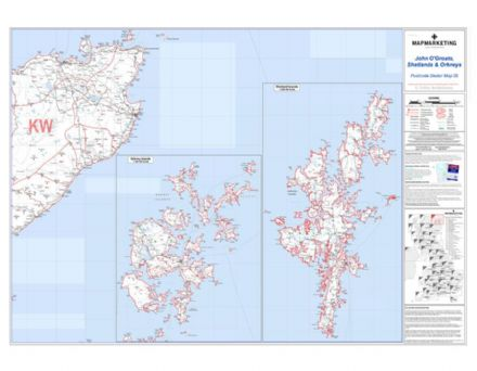 Postcode Sector Map 35 John O'Groats, Shetlands and Orkneys